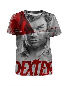 """Футболка с полной запечаткой для мальчиков """"Декстер / Dexter"""" - декстер, сериалы, рисунок, кино"""