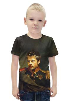 """Футболка с полной запечаткой для мальчиков """"Brad Pitt"""" - бред питт, актёр"""