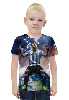 """Футболка с полной запечаткой для мальчиков """"Messi"""" - barcelona, месси, барселона, аргентина"""