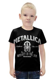 """Футболка с полной запечаткой для мальчиков """"Metallica"""" - heavy metal, metallica, металлика, thrash metal, alcoholica"""