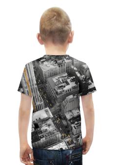 """Футболка с полной запечаткой для мальчиков """"Город 3D"""" - new york, америка, город, 3d, сша"""