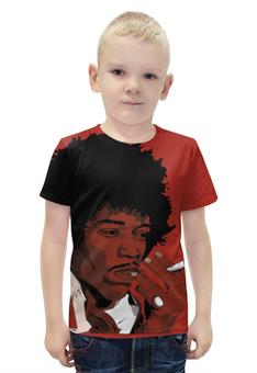 "Футболка с полной запечаткой для мальчиков ""Джими Хендрикс (Jimi Hendrix)"" - jimi hendrix, джими хендрикс"