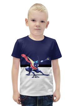 "Футболка с полной запечаткой для мальчиков ""PoKeMon Greninja"" - pokemon, покемон, greninja, грениндзя"