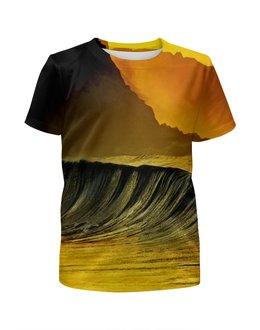 """Футболка с полной запечаткой для мальчиков """"Волны моря"""" - море, краски, природа, пейзаж, волны"""