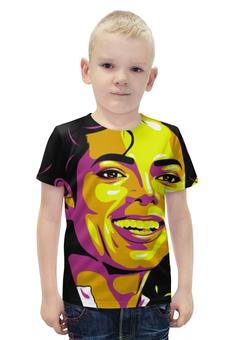 """Футболка с полной запечаткой для мальчиков """"Майкл Джексон"""" - поп арт, рисунок, майкл джексон"""