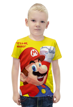 """Футболка с полной запечаткой для мальчиков """"Марио"""" - игра, nintendo, mario, dendy, марио"""