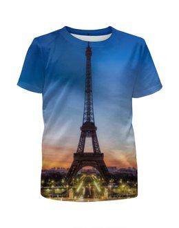 """Футболка с полной запечаткой для мальчиков """"Париж"""" - страны, город, дизайн, франция, париж"""
