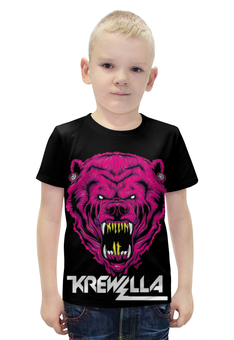"""Футболка с полной запечаткой для мальчиков """"Krewella"""" - музыка, dance, электронная музыка, krewella, танцевальная музыка"""