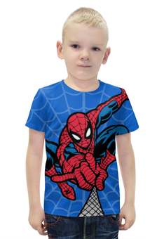 """Футболка с полной запечаткой для мальчиков """"Человек-паук (Spider-man)"""" - spider-man, человек-паук"""