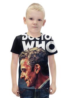 """Футболка с полной запечаткой для мальчиков """"Доктор Кто """" - doctor who, доктор кто, питер капальди доктор"""