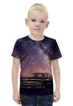"""Футболка с полной запечаткой для мальчиков """"Машина"""" - арт, космос, ночь, машина"""