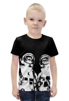 """Футболка с полной запечаткой для мальчиков """"Коты космонавты"""" - космос, коты, космонавты"""