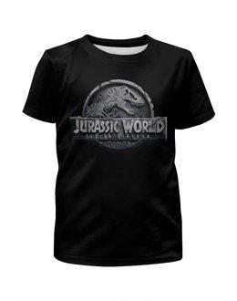 """Футболка с полной запечаткой для мальчиков """"Мир юрского периода / Jurassic World"""" - комикс, рисунок, кино, динозавр, мир юрского периода"""