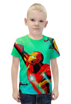 """Футболка с полной запечаткой для мальчиков """"Мстители (The Avengers)"""" - мстители, железный человек, локи, тор, халк"""