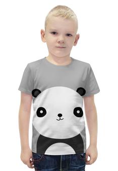"""Футболка с полной запечаткой для мальчиков """"Панда"""" - медведь, панда"""