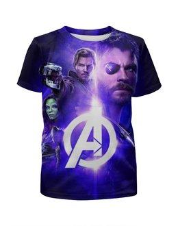 """Футболка с полной запечаткой для мальчиков """"Мстители"""" - мстители война бесконечности, avengers the war of infinity, кино, фантастика"""