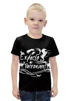 """Футболка с полной запечаткой для мальчиков """"Экспекто патронум"""" - harry potter, гарри поттер, экспекто патронум"""