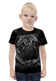 """Футболка с полной запечаткой для мальчиков """"Мопс (Pug)"""" - животные, pug, собака, мопс"""