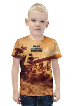 """Футболка с полной запечаткой для мальчиков """"World of Tanks"""" - игры, рисунок, онлайн, танки"""