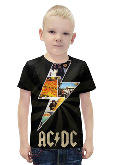 """Футболка с полной запечаткой для мальчиков """"AC/DC"""" - рок, rock, ac dc"""
