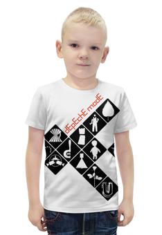 """Футболка с полной запечаткой для мальчиков """"Depeche Mode / Symbols"""" - depeche mode, dave gahan, synthpop, синти-поп, recoil"""