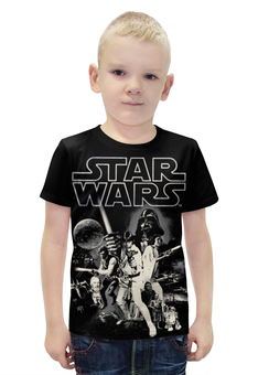 """Футболка с полной запечаткой для мальчиков """"Звёздные Войны"""" - star wars, звездные войны, дарт вейдер"""