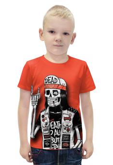 """Футболка с полной запечаткой для мальчиков """"Bones Brigade"""" - skull, череп, skeleton, скелет, bones brigade"""