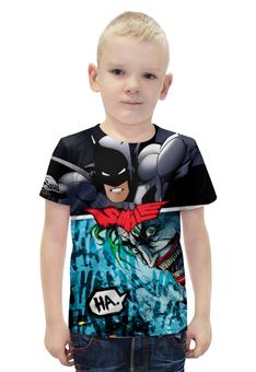 """Футболка с полной запечаткой для мальчиков """"SMILE (Batman vs. Joker)"""" - joker, batman, джокер, бэтмен, mortal kombat"""