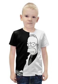 """Футболка с полной запечаткой для мальчиков """"Симпсоны / The Simpsons"""" - комикс, мультфильм, рисунок, кино, сериал"""