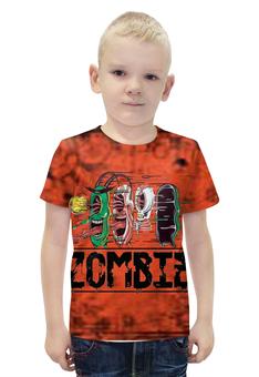 """Футболка с полной запечаткой для мальчиков """"Zombie"""" - зомби"""