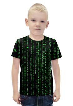"""Футболка с полной запечаткой для мальчиков """"Матрица"""" - матрица, matrix, нео, neo"""