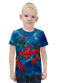 """Футболка с полной запечаткой для мальчиков """"Spider-Man"""" - комикс, marvel, spider-man, марвел, человек-паук"""