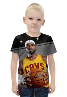 """Футболка с полной запечаткой для мальчиков """"LeBron James"""" - баскетбол, nba, леброн джеймс, cavaliers"""