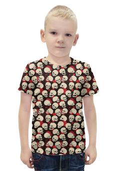 """Футболка с полной запечаткой для мальчиков """"Крупные Черепа"""" - skull, череп, черепа, кровь, blood"""