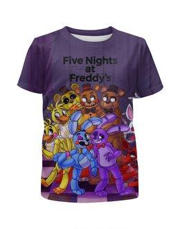 """Футболка с полной запечаткой для мальчиков """"Five Nights at Freddy's"""" - мультик, ужастик, композитор, пять ночей у фредди"""