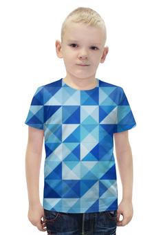 """Футболка с полной запечаткой для мальчиков """"Геометрические фигуры"""" - арт, абстракция, треугольники, квадраты"""
