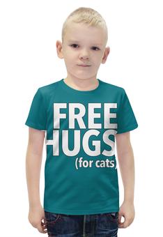 """Футболка с полной запечаткой для мальчиков """"Free hugs"""" - пародия"""
