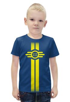 """Футболка с полной запечаткой для мальчиков """"Fallout"""" - игры, fallout, vault boy, убежище 111, vault 111"""