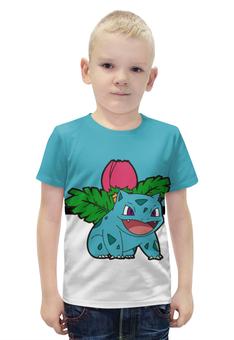 """Футболка с полной запечаткой для мальчиков """"Покемон Ивизавр"""" - pokemon, покемон, ivysaur, травяной, илизавр"""