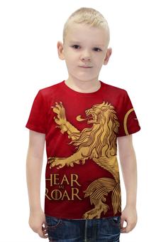 """Футболка с полной запечаткой для мальчиков """"Игра престолов. Ланнистеры"""" - игра престолов, game of thrones, ланнистер, песнь льда и пламени, house lannister"""