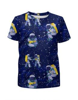 """Футболка с полной запечаткой для мальчиков """"В космосе """" - юмор, вселенная, космонавты"""