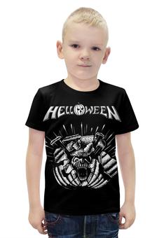 """Футболка с полной запечаткой для мальчиков """"Helloween ( rock band )"""" - heavy metal, helloween, рок музыка, хеви метал, rock music"""