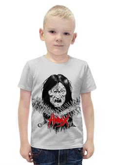 """Футболка с полной запечаткой для мальчиков """"Hirax Band"""" - череп, рок музыка, thrash metal, metal music, hirax"""