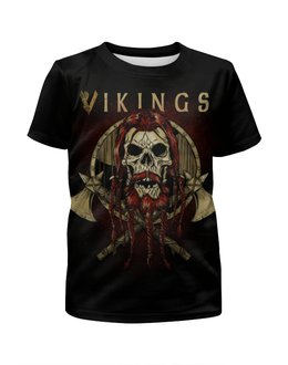 """Футболка с полной запечаткой для мальчиков """"Викинги / Vikings"""" - рисунок, кино, сериал, викинги"""