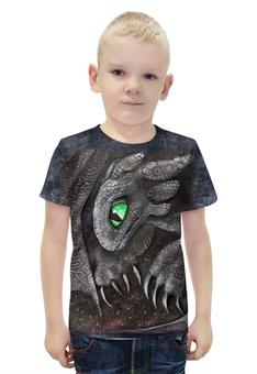 """Футболка с полной запечаткой для мальчиков """"Беззубик Ночная Фурия"""" - авторские майки, дракон, беззубик, ночная фурия, как приручить дракона"""