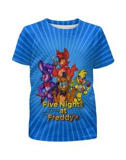 """Футболка с полной запечаткой для мальчиков """"Five Nights at Freddy's"""" - мультфильмы, игрушки, куклы, пять ночей у фредди, игроманам"""