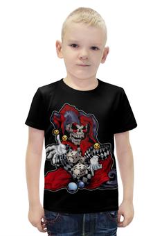 """Футболка с полной запечаткой для мальчиков """"Джокер скелетон"""" - череп, кости"""