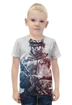 """Футболка с полной запечаткой для мальчиков """"Солдат (Battlefield)"""" - солдат, battlefield, батла, баттлфилд"""