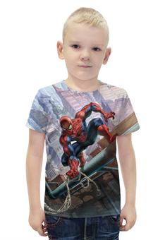 """Футболка с полной запечаткой для мальчиков """"Spider-Man"""" - комиксы, фантастика, супергерой, марвел, человек-паук"""