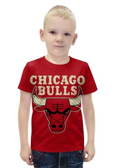 """Футболка с полной запечаткой для мальчиков """"Чикаго Буллз (Chicago Bulls)"""" - nba, нба, chicago bulls, чикаго буллз"""